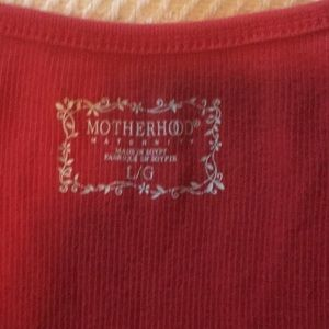 Motherhood Maternity Tops - Red maternity tank top